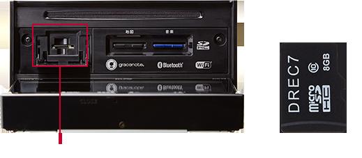 ドライブレコーダー専用SDスロット 専用microSDカード