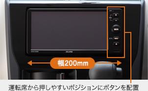 運転席から押しやすいポジションにボタンを配置